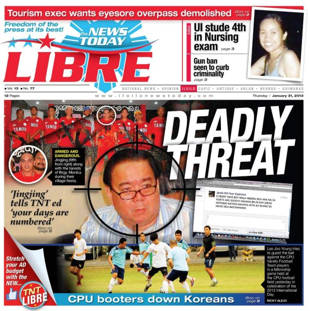 TNT Libre January 31 edition highlights Jing Jing's threat