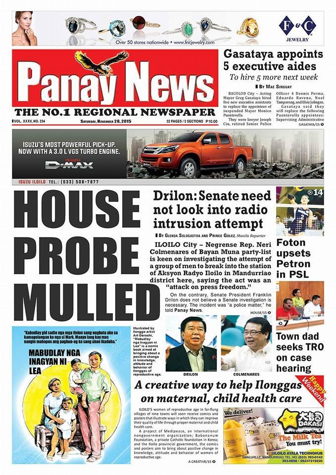 Panay News Drilon No Probe