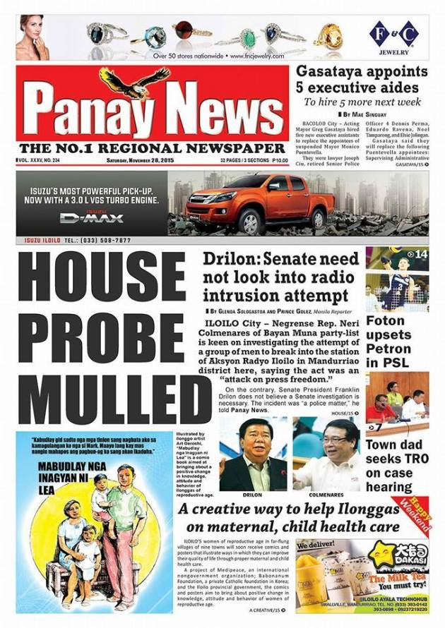 Panay News Drilon No Probe