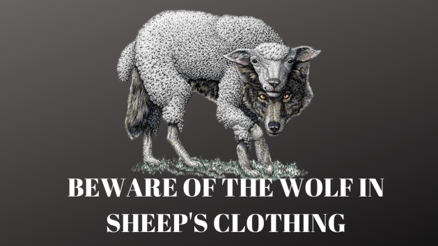 BEWARE OF THE WOLF IN SHEEP'S CLOTHING