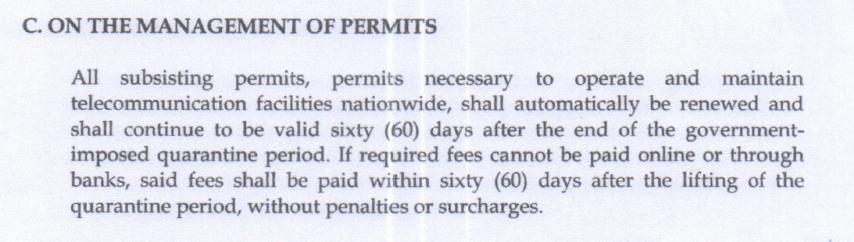 section C memorandum order no. 01-03-2020
