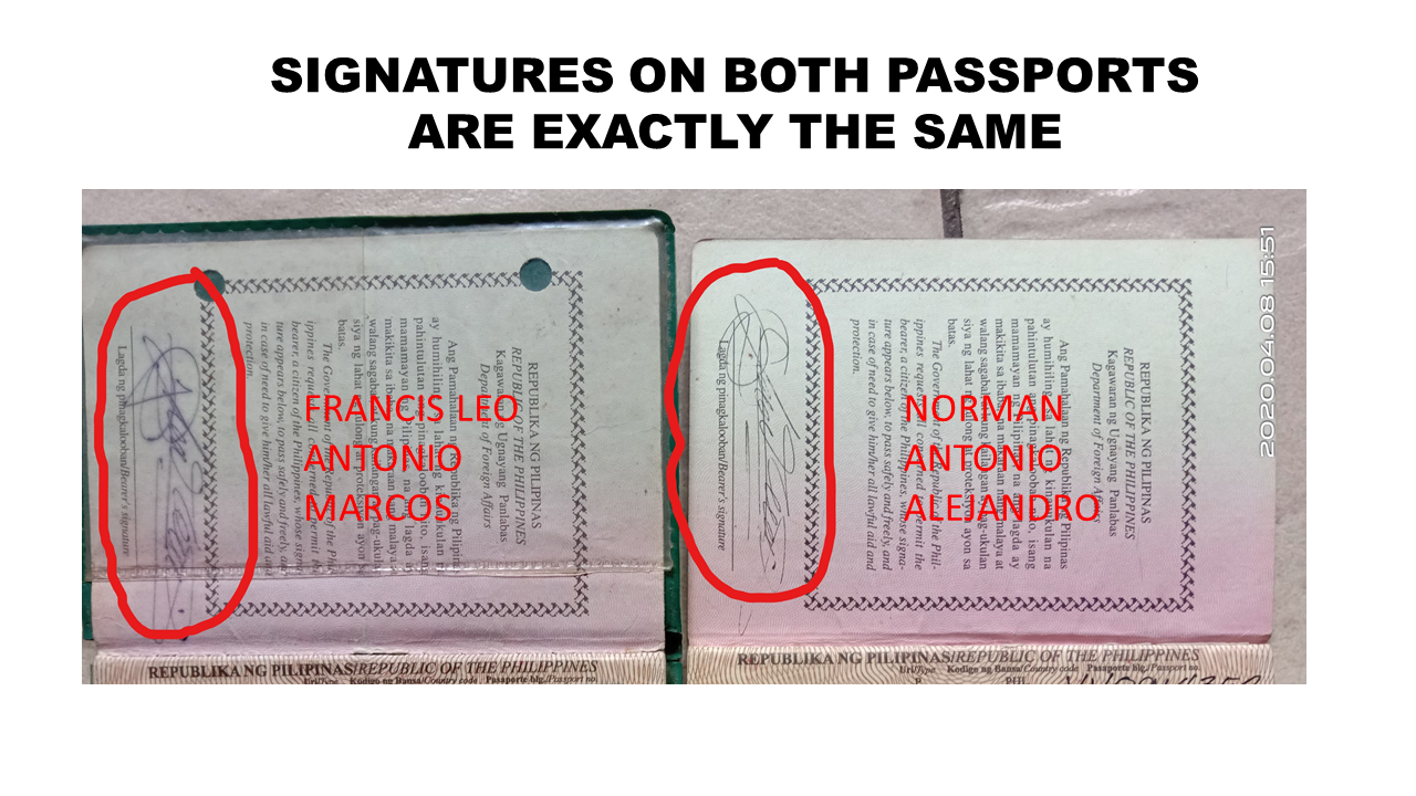 FLM passport signature comparison