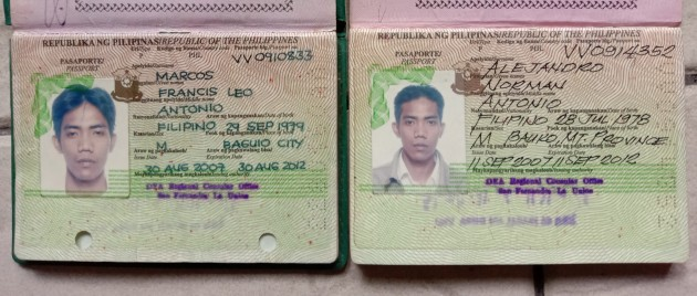 two passports flm and norman alejandro